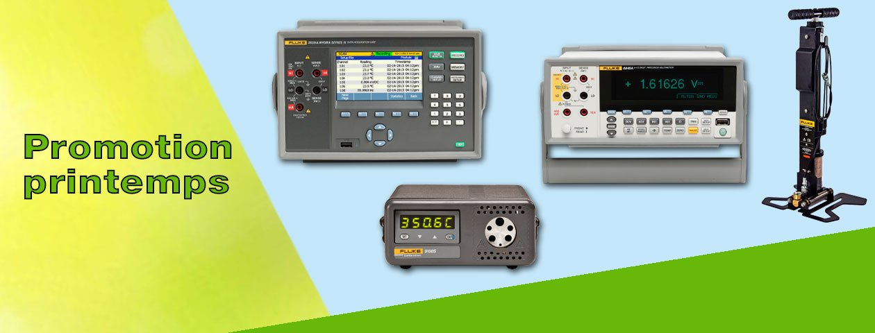 Promotion printemps Fluke Calibration