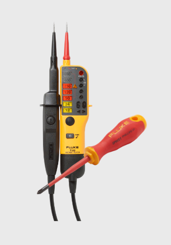 Fluke T110 with a screwdriver