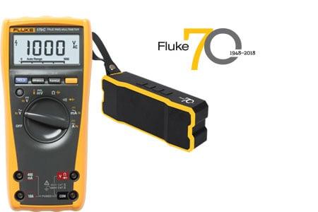 Fluke 179 + Bluetooth speaker