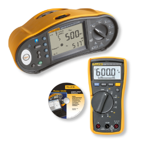 Fluke 1664 FC multifunctionele installatietester en Fluke 115 digitale multimeter