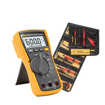 Fluke 115 Dijital Multimetre, TLK 225-1 SureGrip Master Aksesuar seti