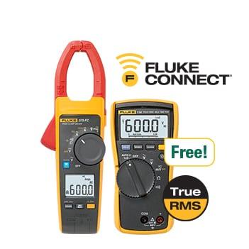 Fluke 375 FC True-rms AC/DC pens ampermetre, Fluke 114 Dijital Multimetre