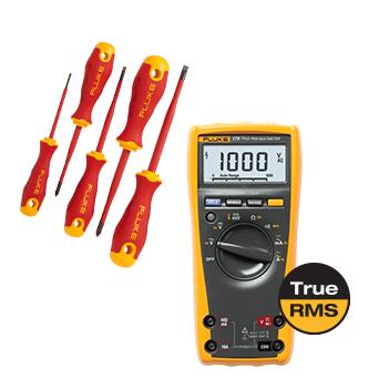 Fluke 170 FC True-RMS Dijital Multimetre, yalıtımlı el araçları başlangıç seti